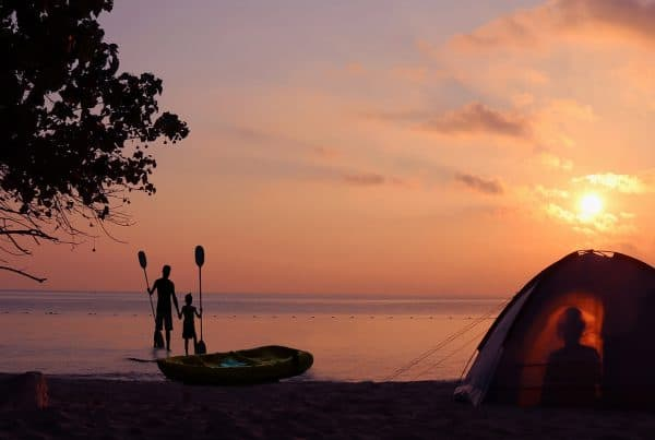 Family camps at one of the best camping spots in Cairns