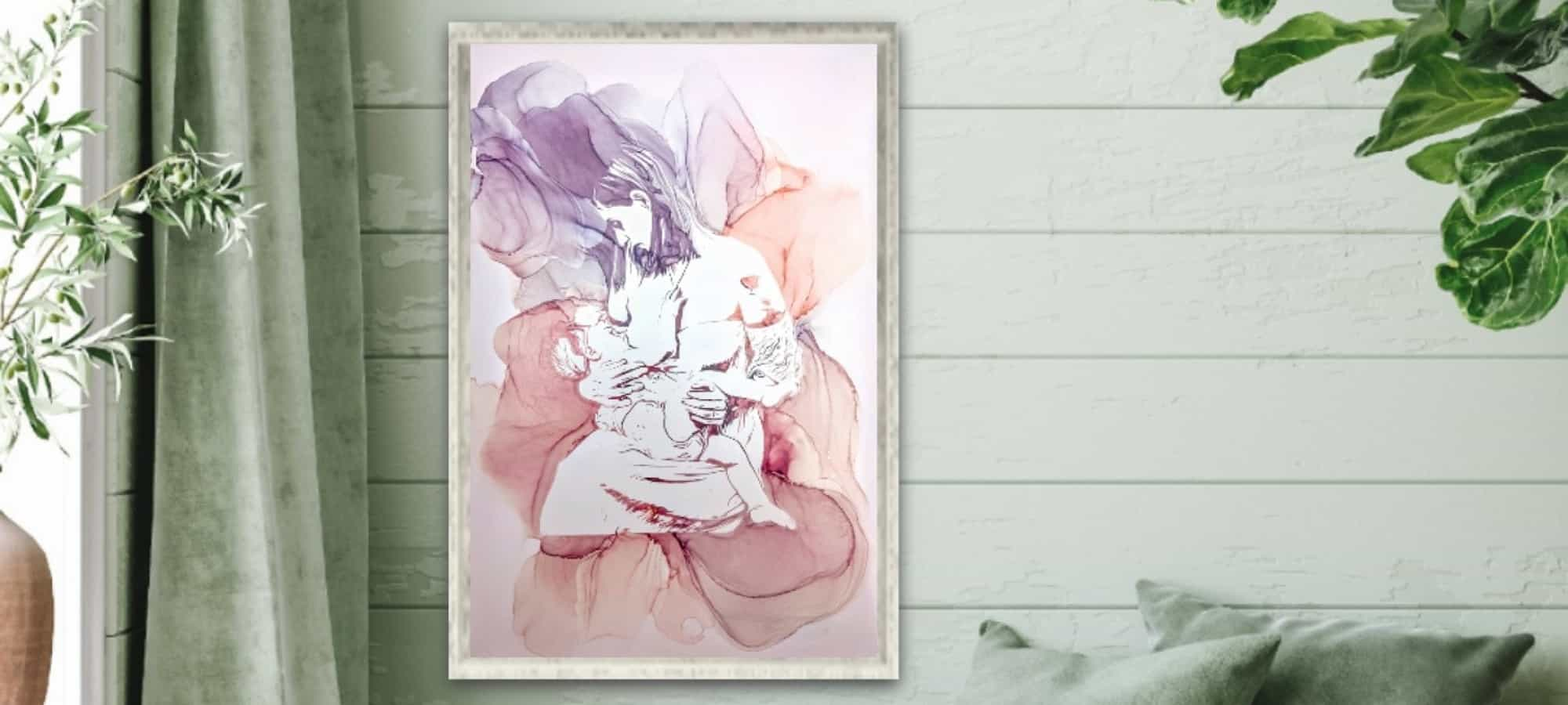 Gina Jones Creations – Paving the Way for Breastmilk Paintings