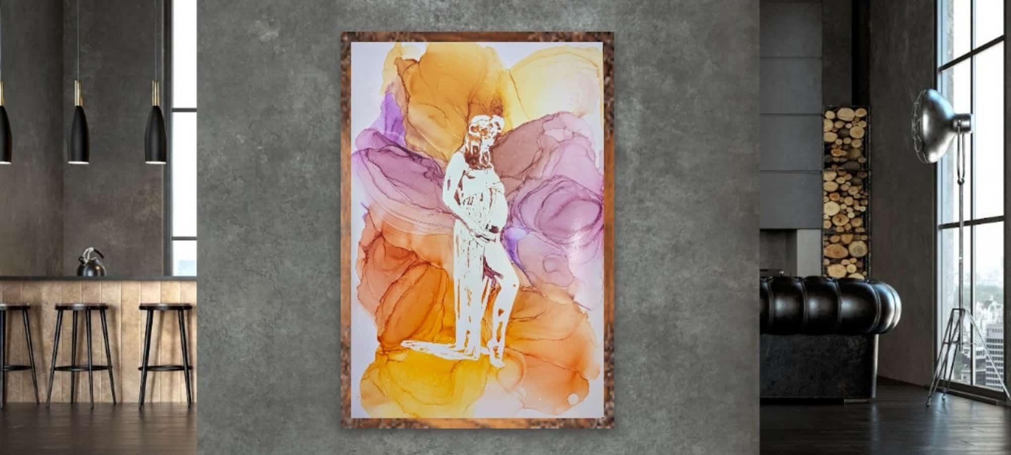 Example of Gina Jones Creations breastmilk paintings